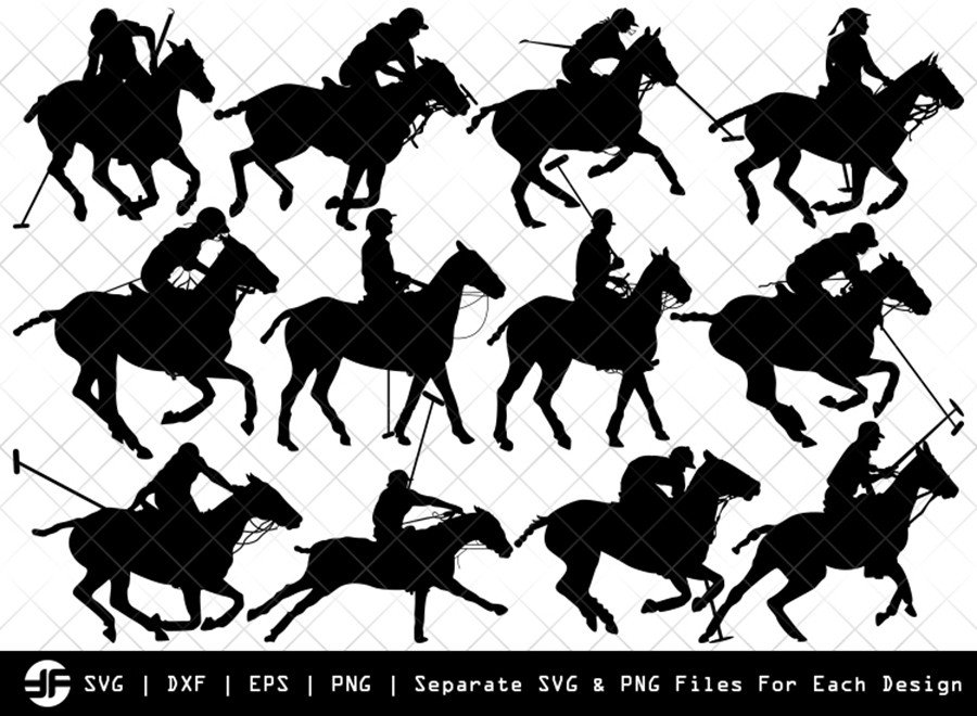 Polo Horse SVG | Animal SVG | Silhouette Bundle | Cut File