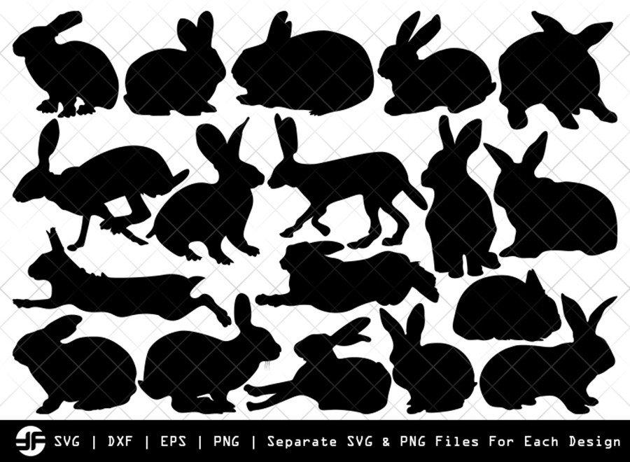 Rabbit SVG | Animal SVG | Silhouette Bundle | SVG Cut File