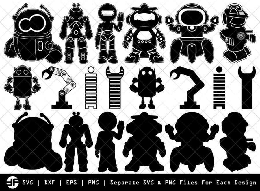 Robot SVG | Transformer SVG | Silhouette Bundle | Cut File