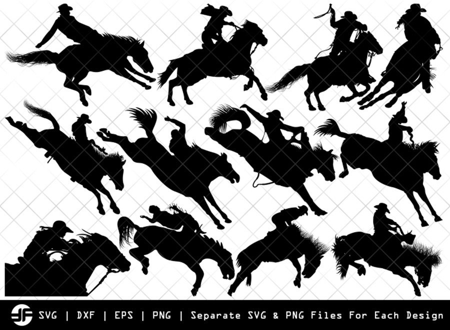 Rodeo SVG | Animal SVG | Silhouette Bundle | SVG Cut File