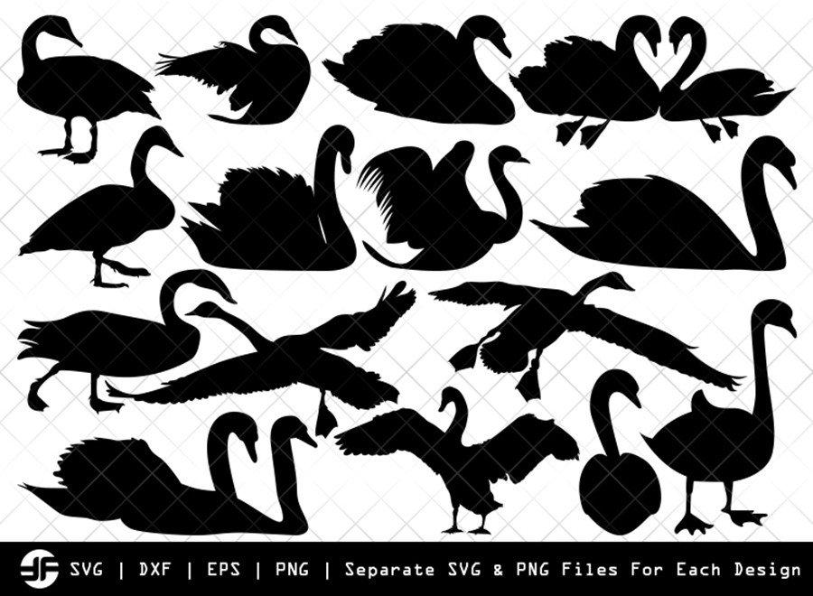 Swan SVG | Animal SVG | Silhouette Bundle | SVG Cut File