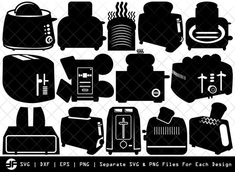 Toaster SVG | Toaster Silhouette Bundle | SVG Cut File