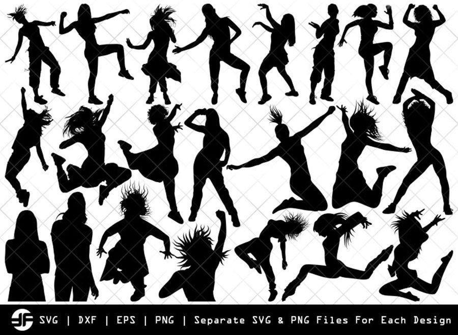 Zumba Girl SVG | Silhouette Bundle | SVG Cut File