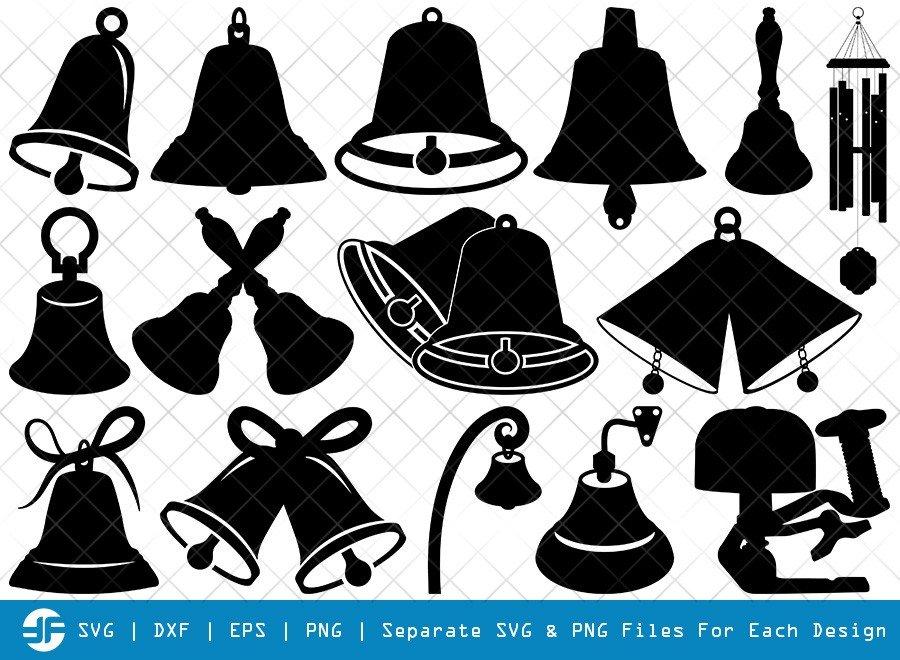 Bells SVG Cut Files | Bells Of Vienna Silhouette Bundle