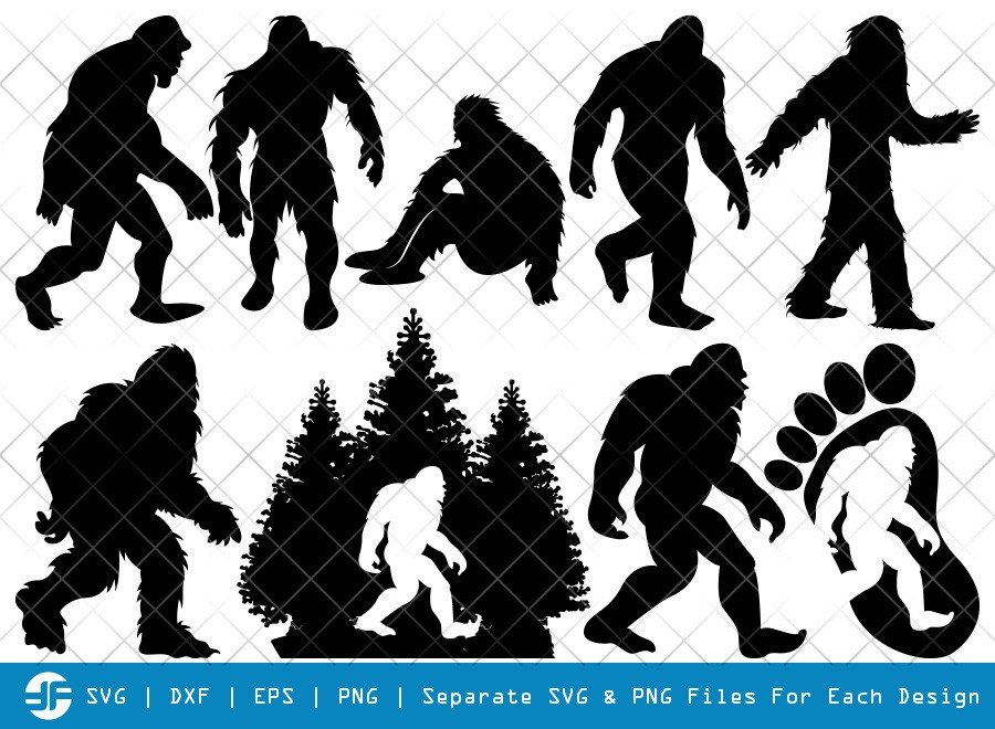 Bigfoot SVG Cut Files | Bigfoot Silhouette Bundle