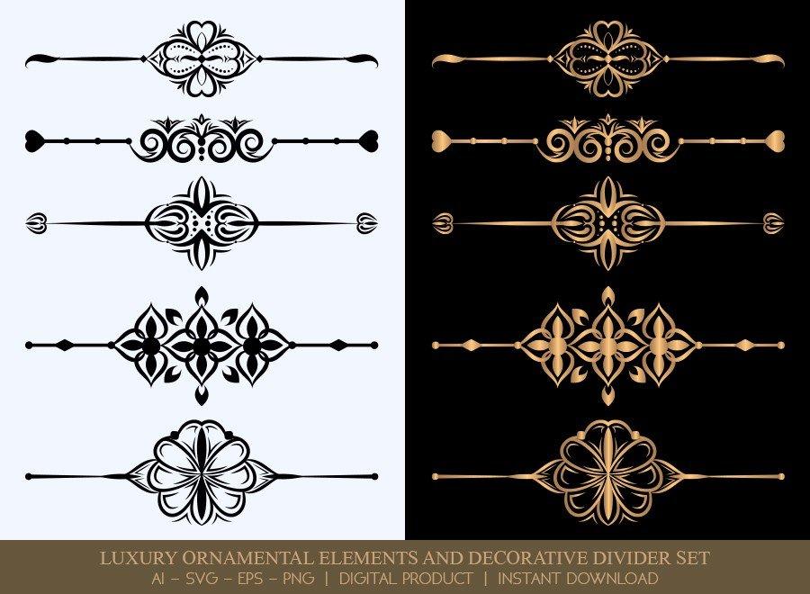 Luxury Decorative Divider Set SVG Cut Files | DDS057