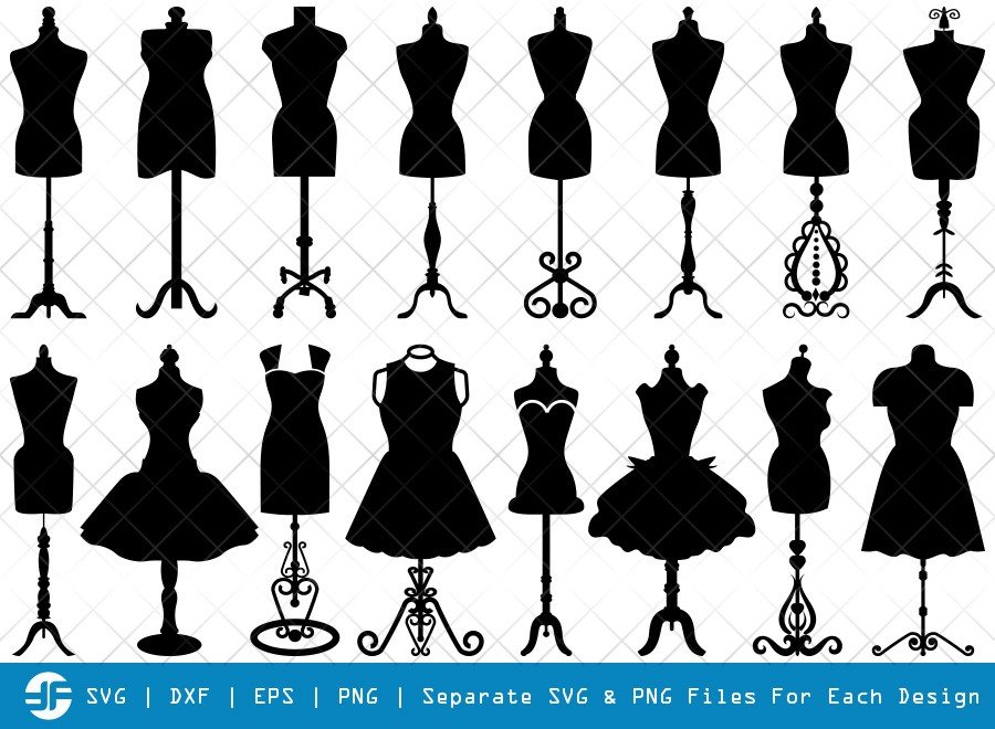 Mannequin SVG Cut Files | Seamstress Mannequin Silhouette