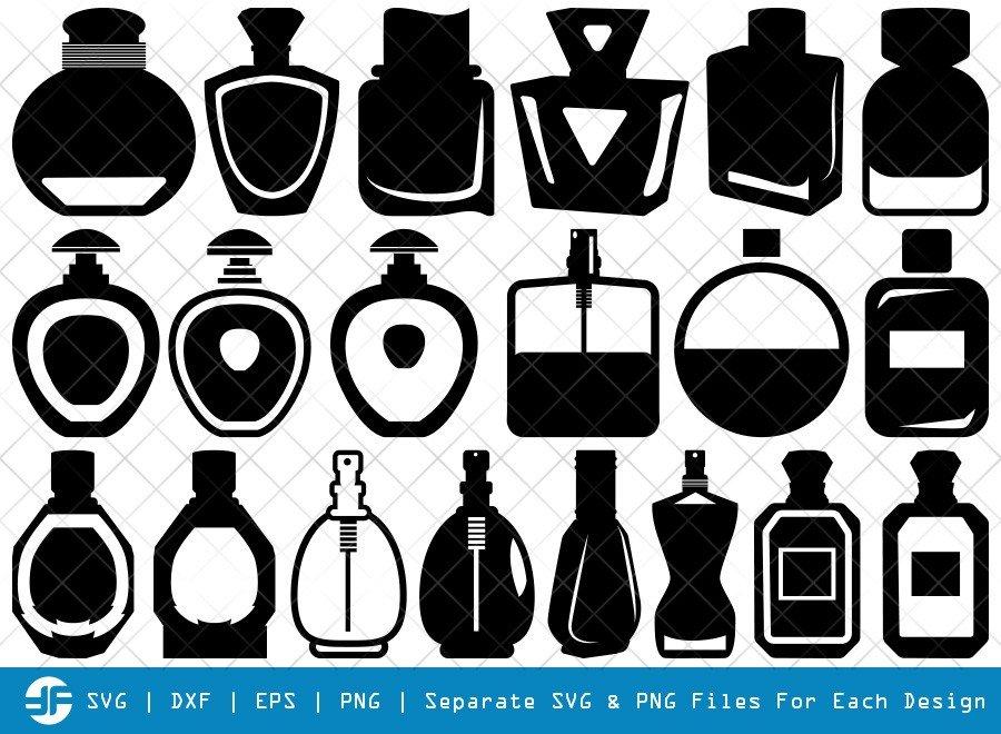 Perfume SVG Cut Files | Spray Bottle Silhouette Bundle