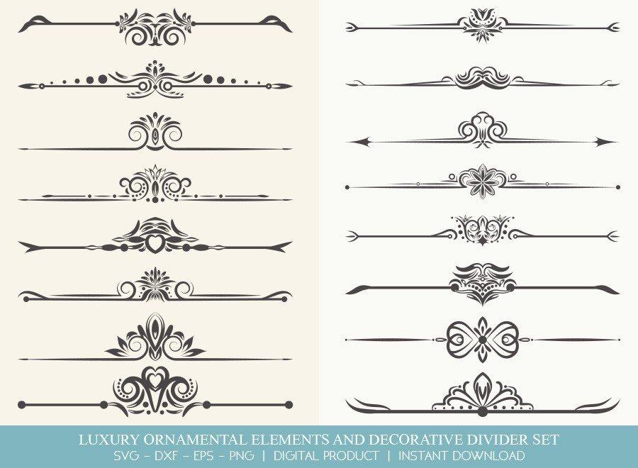 Luxury Ornament Divider Set SVG Cut Files | DDS0014