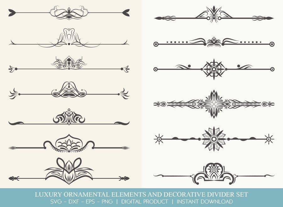 Luxury Ornament Divider Set SVG Cut Files | DDS0017