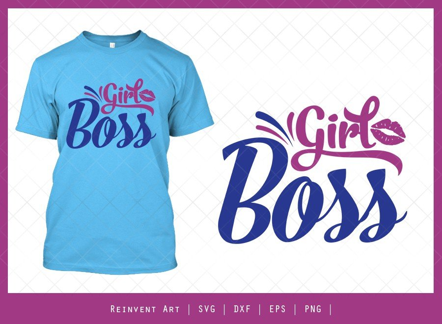 Girl Boss SVG Cut File | Entrepreneur T-shirt Design