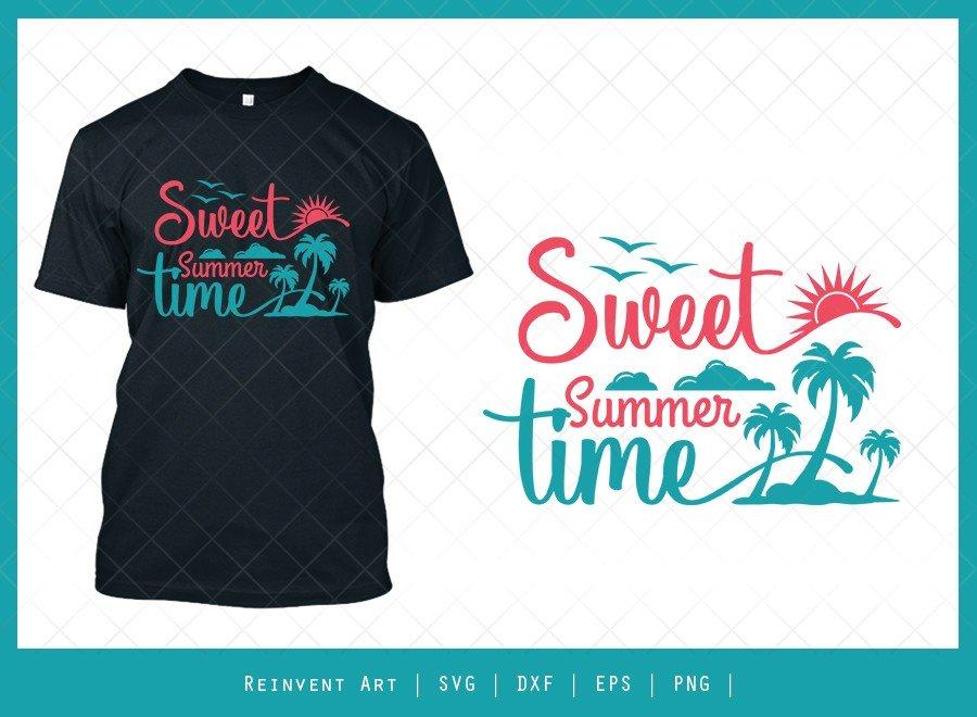 Sweet Summer Time SVG Cut File | Summer T-shirt Design