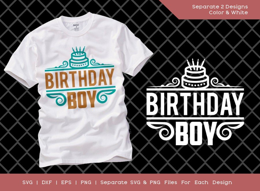 Birthday Boy SVG Cut File | Kids Birthday | T-shirt Design