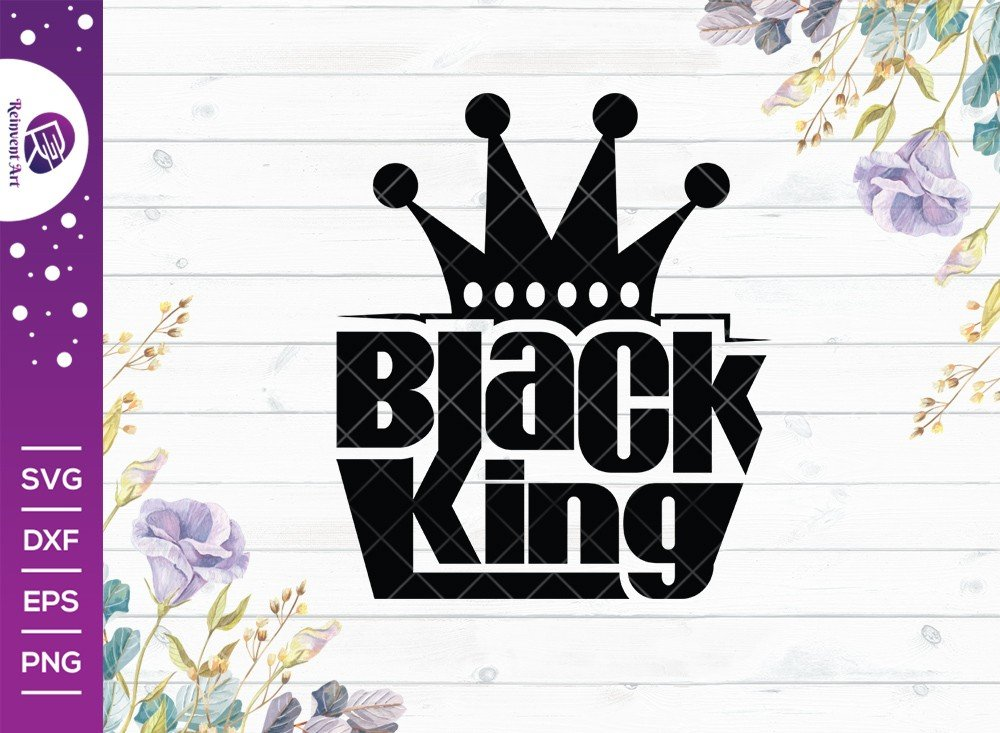 Black King SVG Cut File | Black Lives Matter T-shirt Design