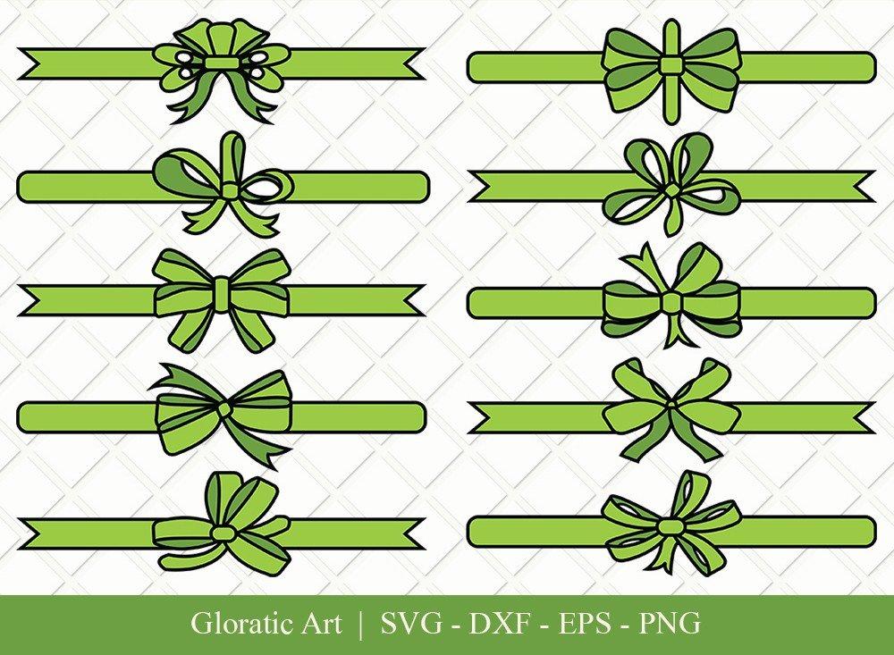 Bow and Ribbon Clipart SVG Cut Files | Bow Ribbon Svg