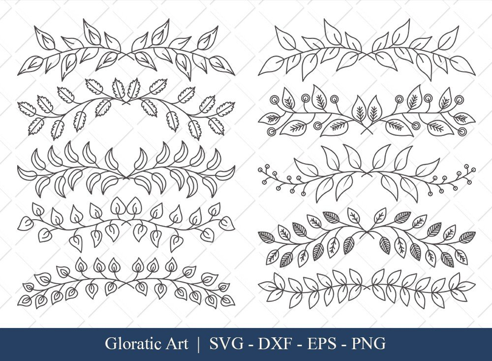 Floral Text Divider SVG Cut Files | FTD003
