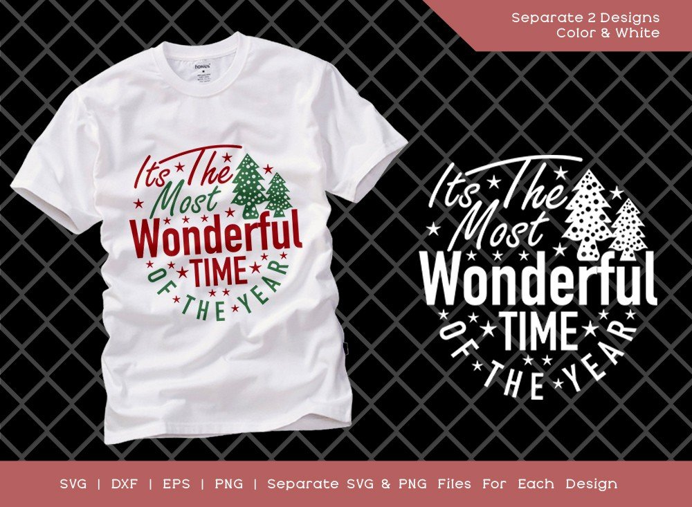 Its The Most Wonderful Time Of The Year SVG Cut File