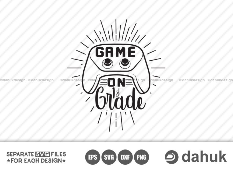 Game On 1st Grade svg, Back to school, Kids gamer shirt