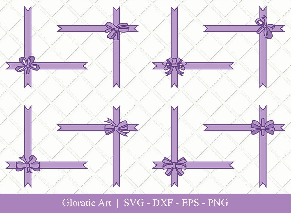 Gift Box Ribbon Clipart SVG Cut Files | Gift Box SVG