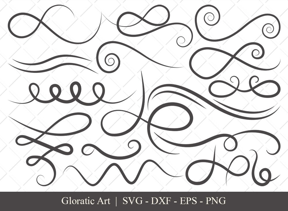Swirl SVG Cut File | Flourish Svg | Swoosh Svg | Squiggle