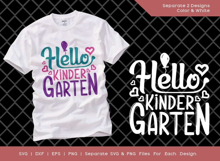 Hello Kindergarten SVG Cut File | Kindergarten Svg