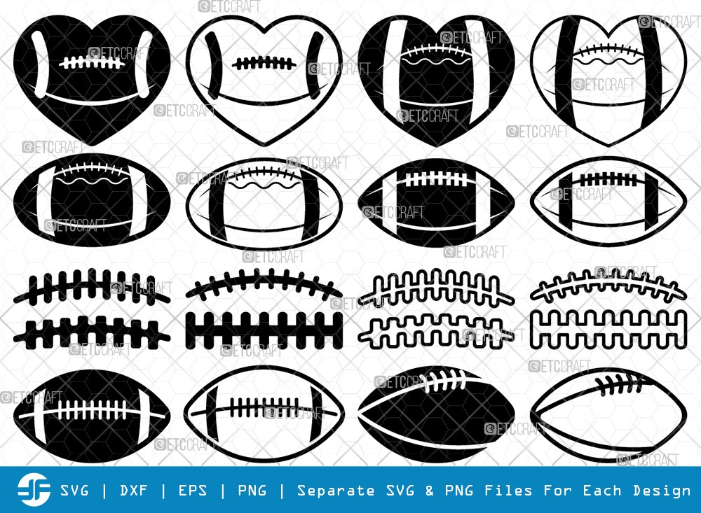 American Football SVG Cut Files | Football Silhouette