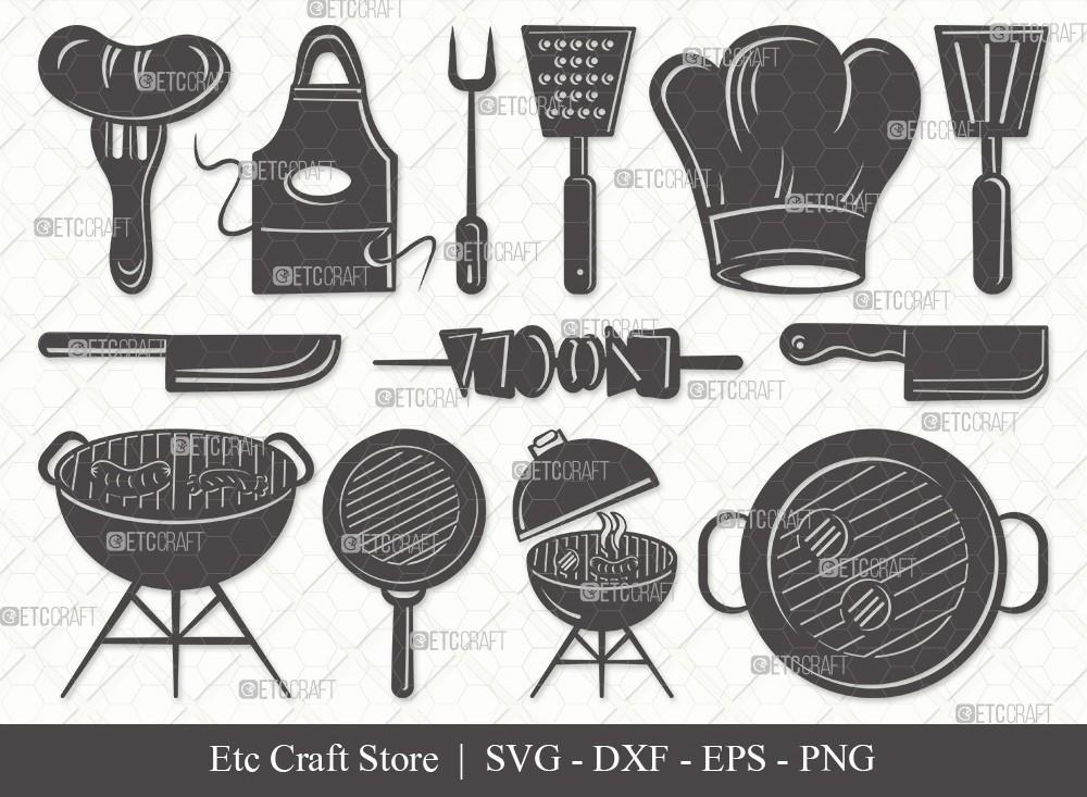 BBQ Silhouette SVG Cut File | Barbecue Svg