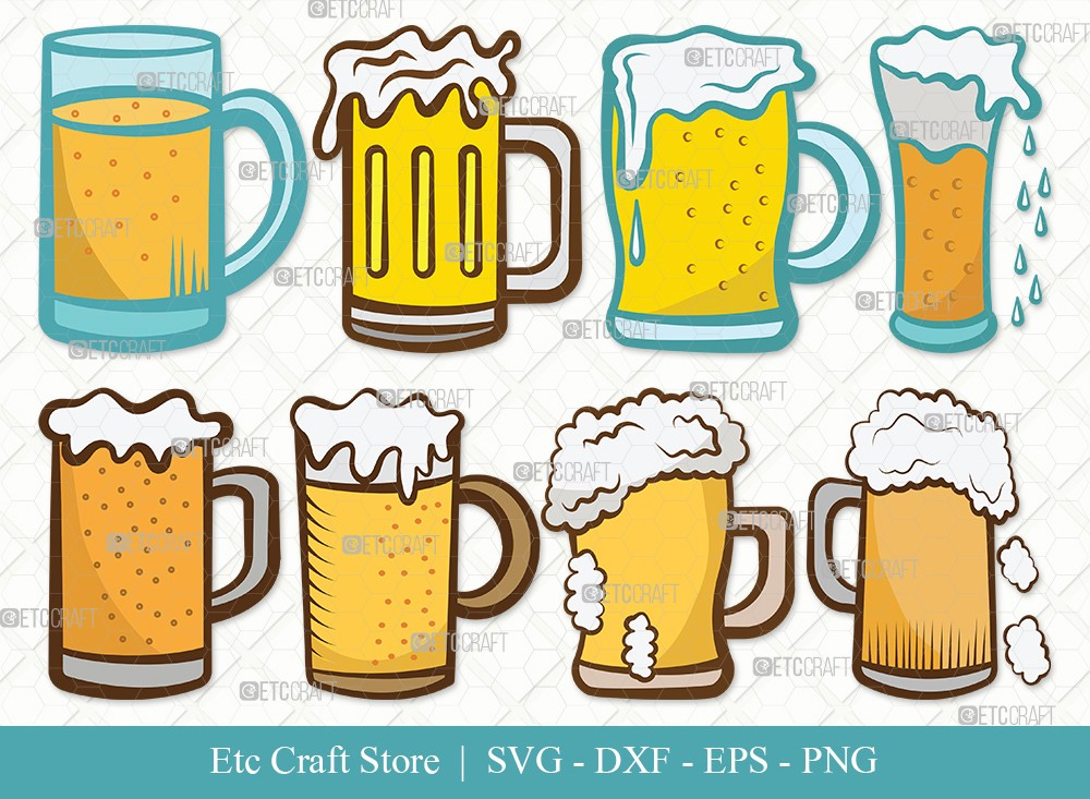 Beer Mug Clipart SVG Cut File | Beer Svg