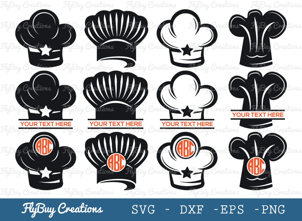 Chef Hat SVG Cut File | Cooking Svg | Chef Svg