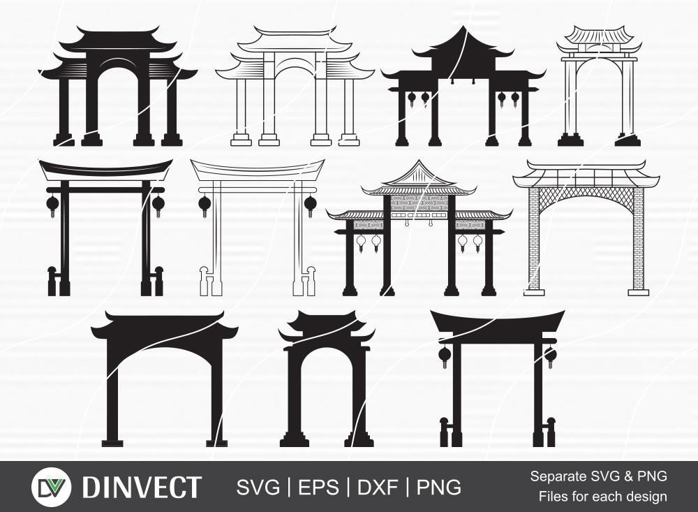 Chinese Gate Svg, Chinese Gate Svg, File Chinese Gate Svg