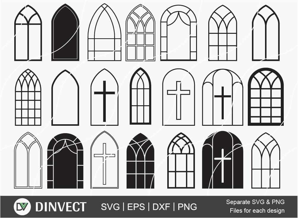 Church Windows svg, Church Windows bundle