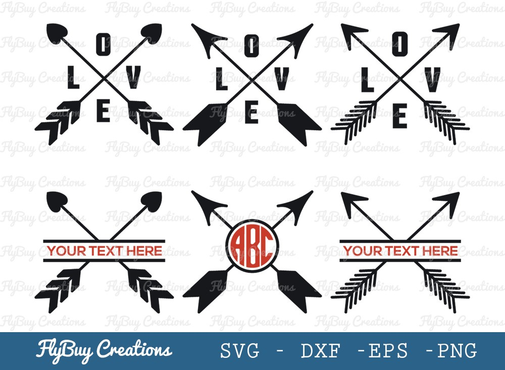 Crossed Arrows SVG Cut File | Arrow With Love