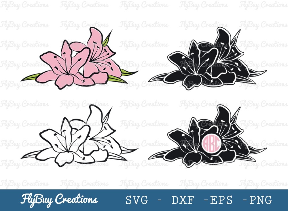 Flower SVG Cut File | Floral Svg | Flower Monogram Svg