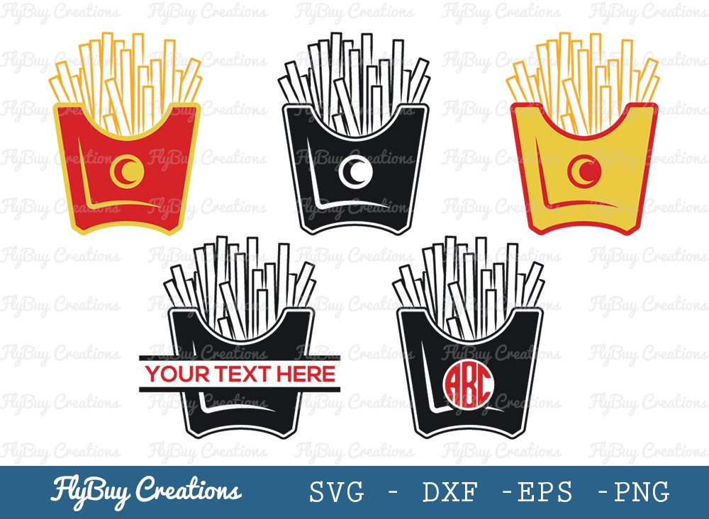 French Fries SVG Cut File | Fries Svg