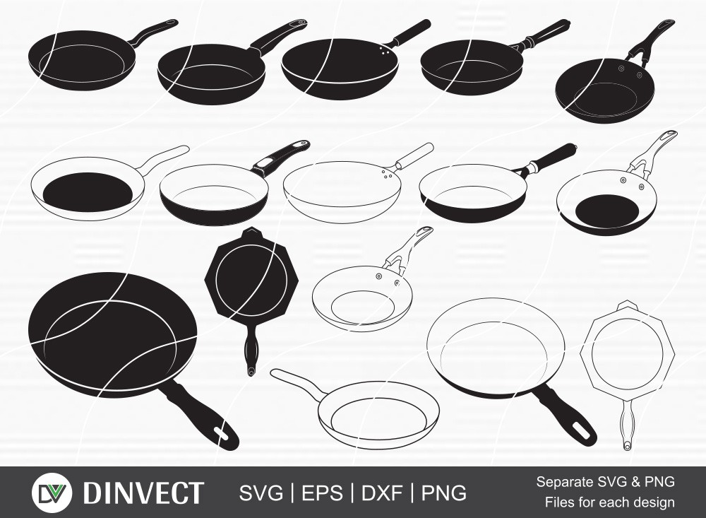 Frying Pan SVG, Pan svg, Frying pan Silhouette