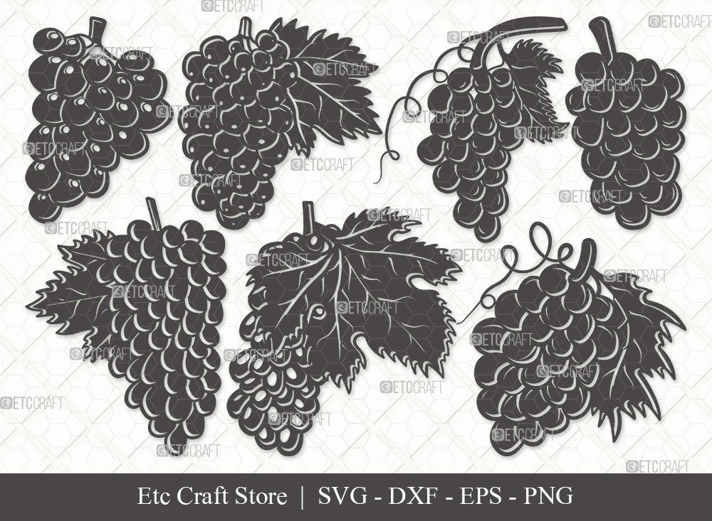 Grapes Silhouette SVG Cut File | Grape Svg