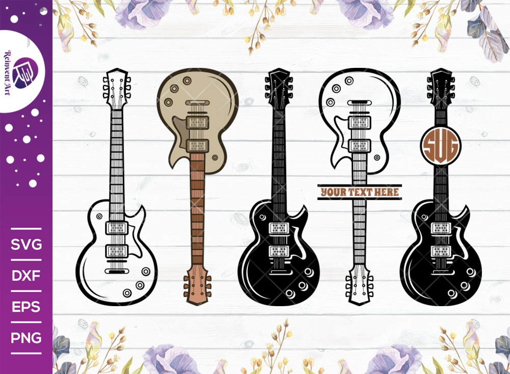 Guitar SVG Cut File | Electric Guitar Svg | Guitar Svg