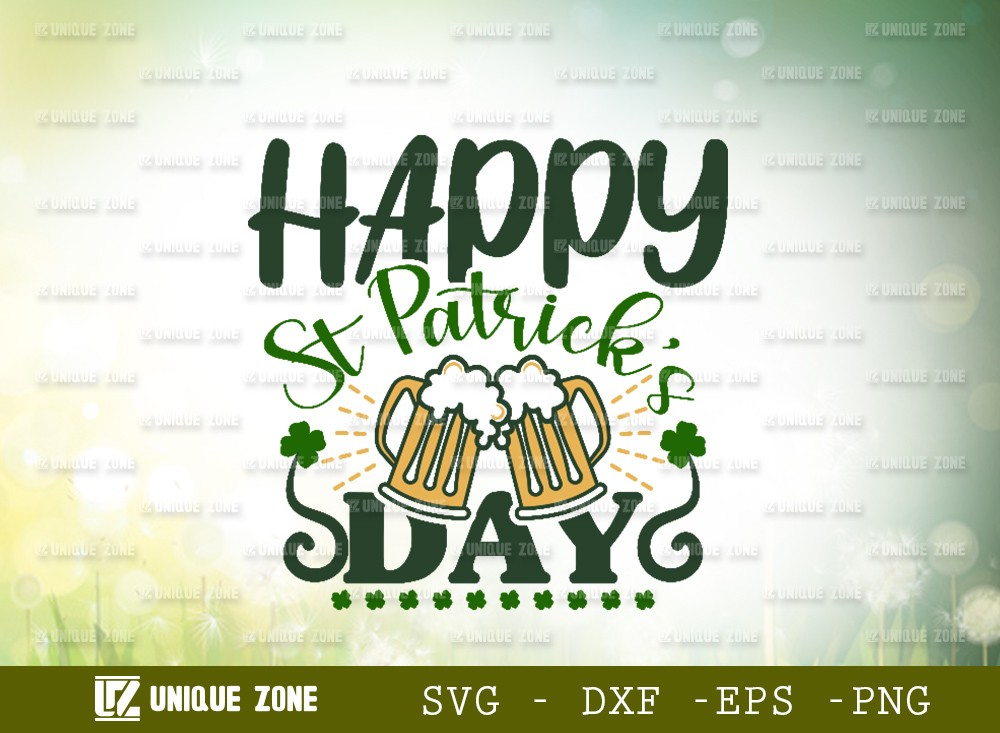 Happy St Patricks Day SVG Cut File | Shamrock Svg | Saint Patricks Day | Clover Leaf | Leaf | Lucky Clover | St Patricks Day | T-shirt Design | Funny Quotes | Typography Design | Cricut | Design Space | Craft File | Cut file | Silhouette Studio | Cutting Machine | Cameo | Vinyl Designs | Iron On Decals | Digital File | Instant Download