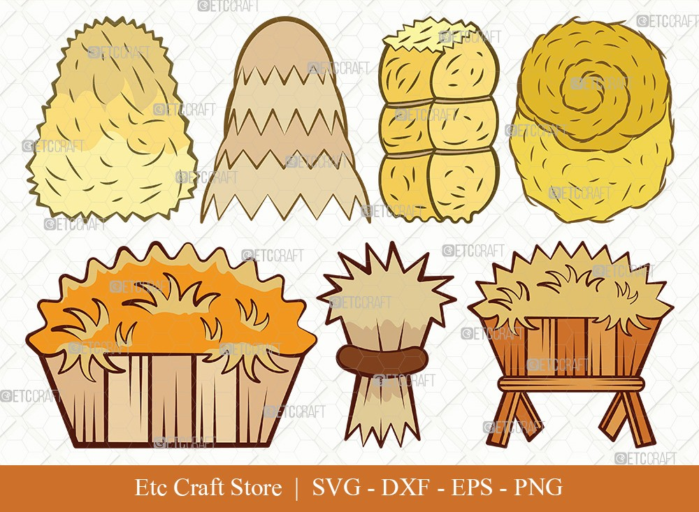 Hay Clipart SVG Cut File | Haystack Svg