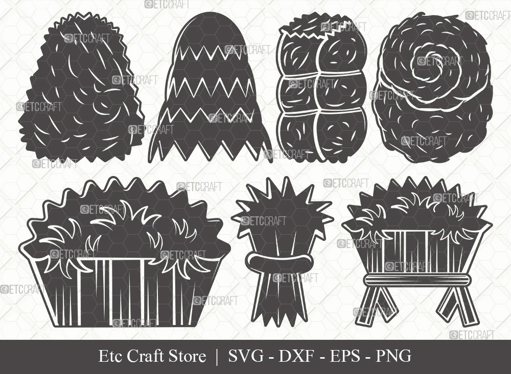 Hay Silhouette SVG Cut File | Haystack Svg