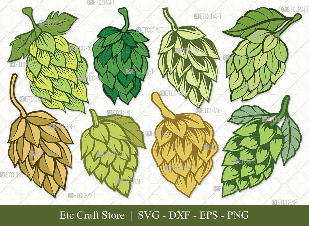 Hops Clipart SVG Cut File | Beer Hops Svg