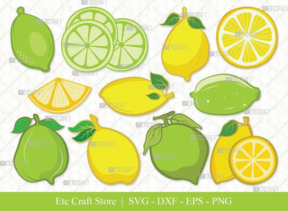Lemon Clipart SVG Cut File | Half Lemon Svg
