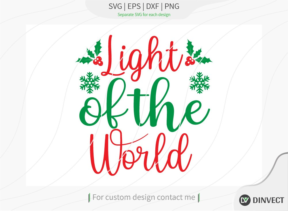 Light of the world SVG Cut File