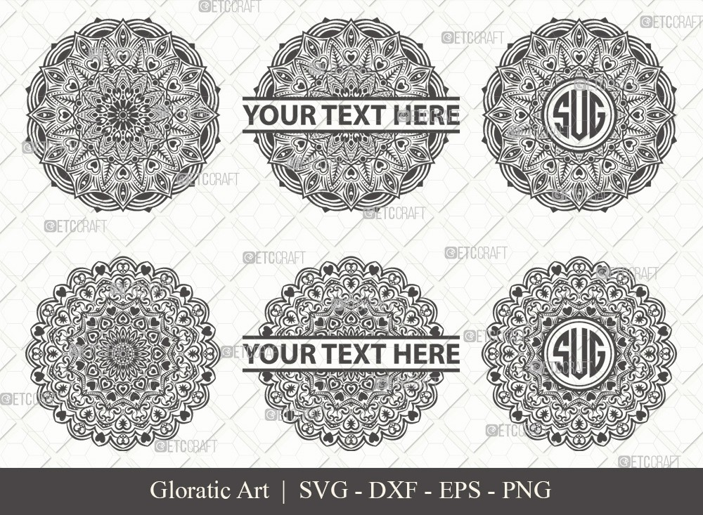 Mandala SVG Cut File | Monogram | M0011