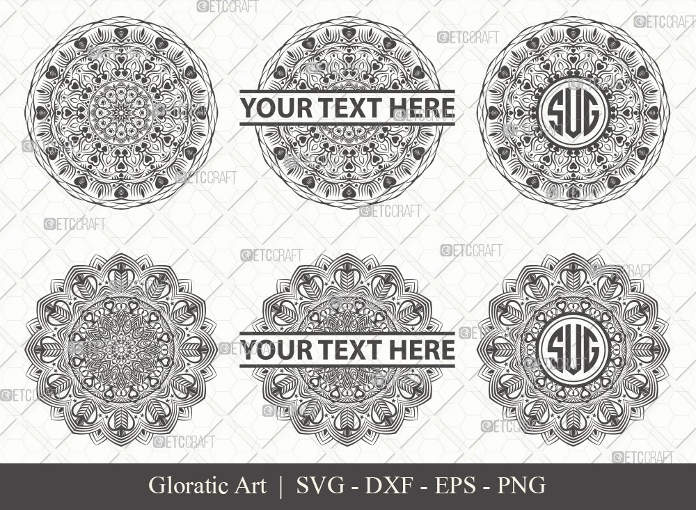Mandala SVG Cut File | Monogram | M0007