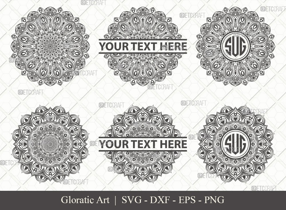 Mandala SVG Cut File | Monogram | M0008