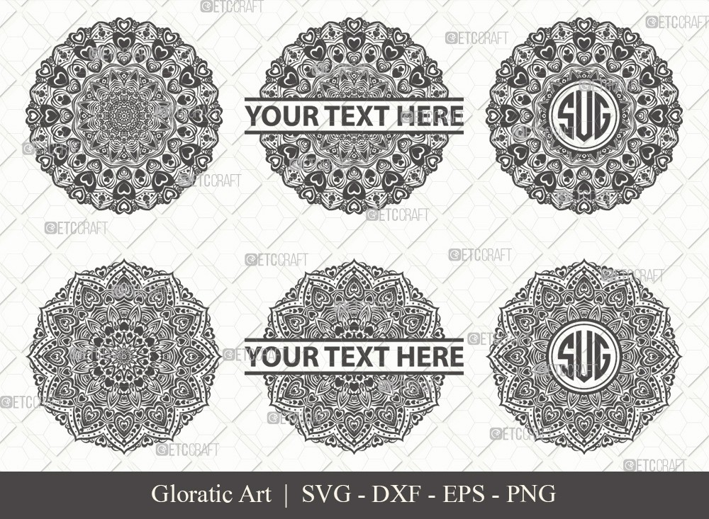 Mandala SVG Cut File | Monogram | M00020