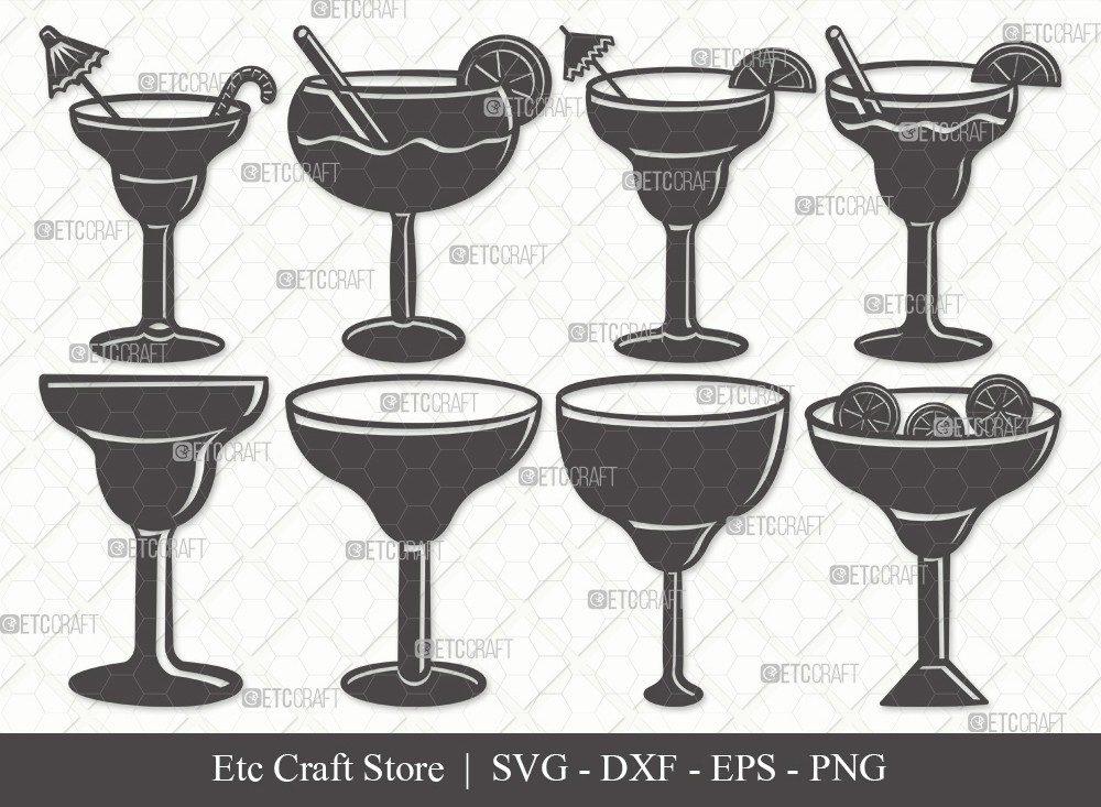 Margarita Glass Silhouette SVG Cut File