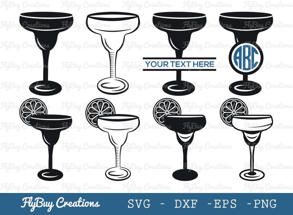 Margarita Glass SVG Cut File