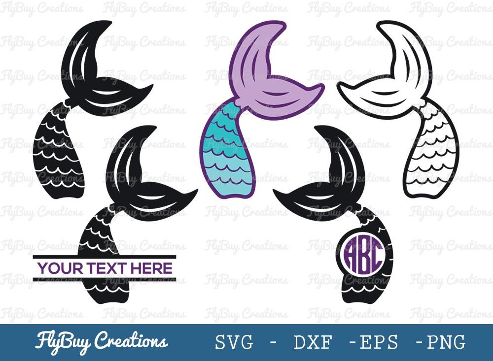 Mermaid SVG Cut File | Mermaid Monogram Svg